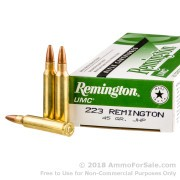 20 Rounds of 45gr JHP .223 Ammo by Remington