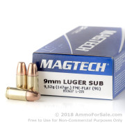 50 Rounds of 147gr FMC 9mm Ammo by Magtech