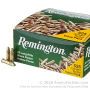 525 Rounds of 36gr HP .22 LR Ammo by Remington