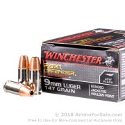 20 Rounds of 147gr JHP 9mm Ammo by Winchester