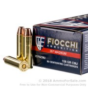 50 Rounds of 158gr CMJ .357 Mag Ammo by Fiocchi