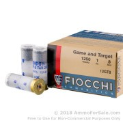 "250 Rounds of 2-3/4"" 1 ounce #8 shot 12ga Ammo by Fiocchi Game and Target"