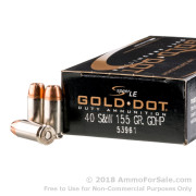 50 Rounds of 155gr JHP .40 S&W Ammo by Speer