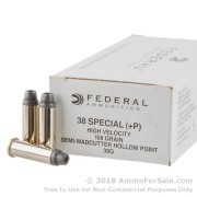 1000 Rounds of 158gr LSWCHP .38 Spl + P Ammo by Federal LE