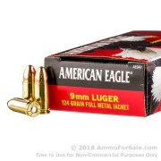 1000 Rounds of 124gr FMJ 9mm Ammo by Federal