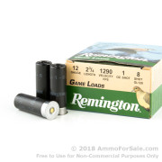 25 Rounds of 1 ounce #8 Shot 12ga Ammo by Remington