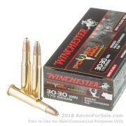 20 Rounds of 170gr HP 30-30 Win Ammo by Winchester Power Max Bonded