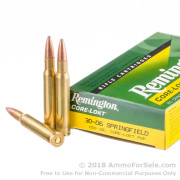 200 Rounds of 150gr PSP 30-06 Springfield Ammo by Remington