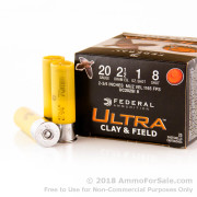 "25 Rounds of 2-3/4"" 1 ounce #8 shot 20ga Ammo by Federal Ultra Clay & Field"