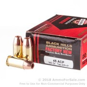 20 Rounds of +P 185gr TAC-XP HP .45 ACP Ammo by Black Hills Ammunition