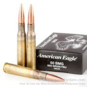 10 Rounds of 660gr FMJ .50 BMG Ammo by Federal American Eagle