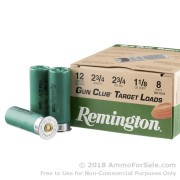 250 Rounds of 1 1/8 ounce #8 shot 12ga Ammo by Remington
