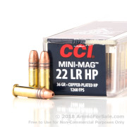 5000 Rounds of 36gr CPHP .22 LR Ammo by CCI