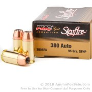 1000 Rounds of 95gr JHP .380 ACP Ammo by PMC
