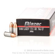 50 Rounds of 124gr TMJ 9mm Ammo by Blazer