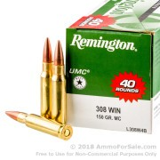 400 Rounds of 150gr MC .308 Win Ammo by Remington