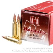 50 Rounds of 55gr SP .223 Ammo by Hornady