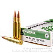 20 Rounds of 150gr MC 30-06 Springfield Ammo by Remington