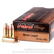 50 Rounds of 124gr FMJ 9mm Ammo by PMC