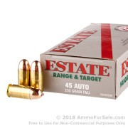 50 Rounds of 230gr FMJ .45 ACP Ammo by Estate Cartridge