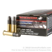 50 Rounds of 42gr LHP .22 LR Ammo by Winchester Subsonic