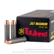 50 Rounds of 158gr FMJ .357 Mag Ammo by Tula