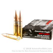 20 Rounds of 220gr OTM .300 AAC Blackout Ammo by Federal American Eagle