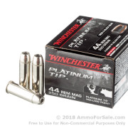 20 Rounds of 250gr JHP .44 Mag Ammo by Winchester Platinum Tip