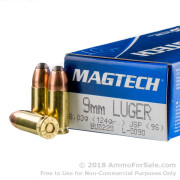 50 Rounds of 124gr JSP 9mm Ammo by Magtech