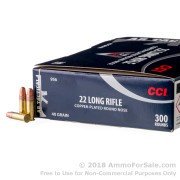 300 Rounds of 40gr CPRN .22 LR Ammo by CCI