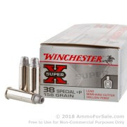 50 Rounds of +P 158gr Lead Wadcutter HP .38 Spl Ammo by Winchester Super-X