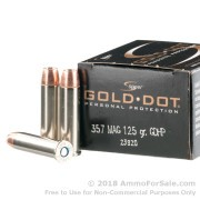 20 Rounds of 125gr JHP .357 Mag Ammo by Speer