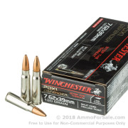 20 Rounds of 120gr HP 7.62x39mm Ammo by Winchester PDX1 Defender