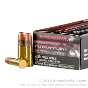 500  Rounds of 42gr HP .22 LR Ammo by Winchester