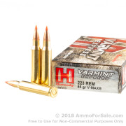 200 Rounds of 55gr V-MAX .223 Ammo by Hornady