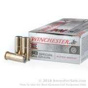 50 Rounds of 148gr Lead Wadcutter .38 Spl Ammo by Winchester Super-X