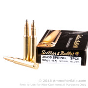 20 Rounds of 180gr SPCE 30-06 Springfield Ammo by Sellier & Bellot