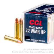 2000 Rounds of 40gr JHP .22 WMR Ammo by CCI