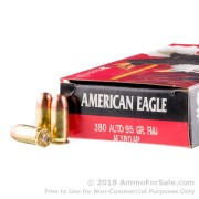 1000 Rounds of 95gr FMJ .380 ACP Ammo by Federal