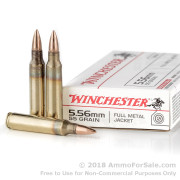 1000 Rounds of 55gr FMJ 5.56x45 Ammo by Winchester
