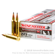 20 Rounds of 40gr Polymer Tipped .223 Ammo by Winchester Varmint-X