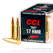 50 Rounds of 17gr HP .17HMR Ammo by CCI