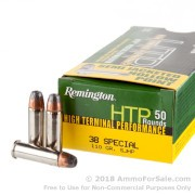50 Rounds of 110gr SJHP .38 Spl Ammo by Remington HTP
