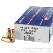 50 Rounds of 165gr FMJ .40 S&W Ammo by Ultramax Remanufactured