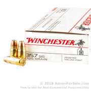 500  Rounds of 125gr JHP .357 SIG Ammo by Winchester USA