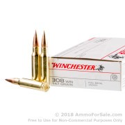 20 Rounds of 147gr FMJ .308 Win Ammo by Winchester