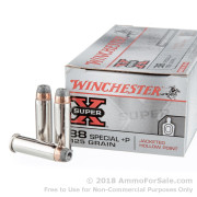 50 Rounds of 125gr SJHP +P .38 Spl Ammo by Winchester Super-X
