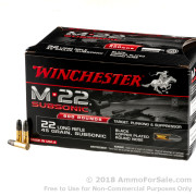 800 Rounds of 45gr Copper Plated Round Nose .22 LR Ammo by Winchester Subsonic