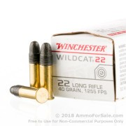 5000 Rounds of 40gr LRN .22 LR Ammo by Winchester