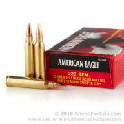 30 Rounds of 55gr FMJBT .223 Ammo by Federal